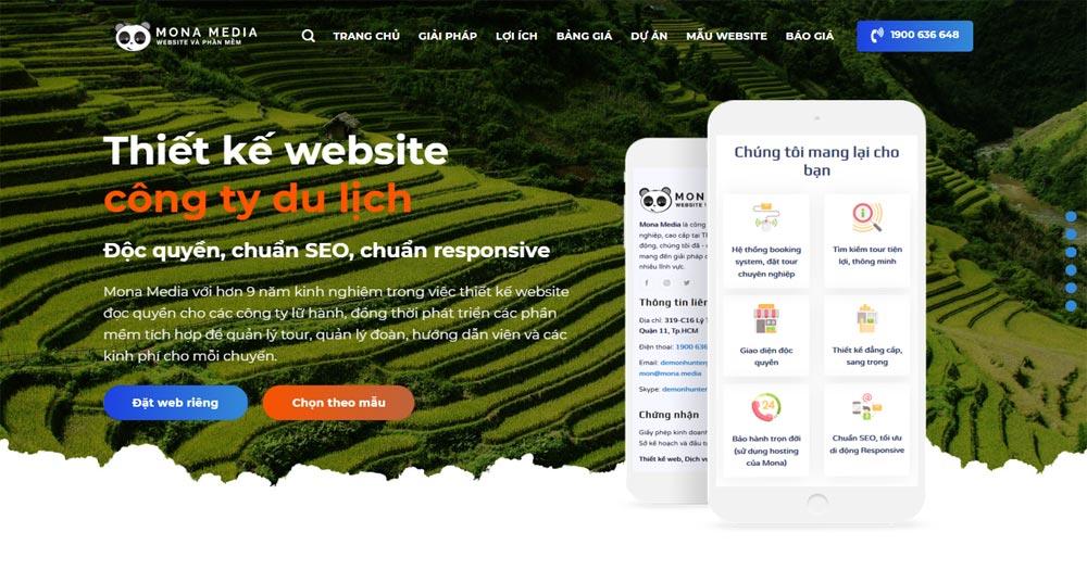 Cách thiết kế website du lịch